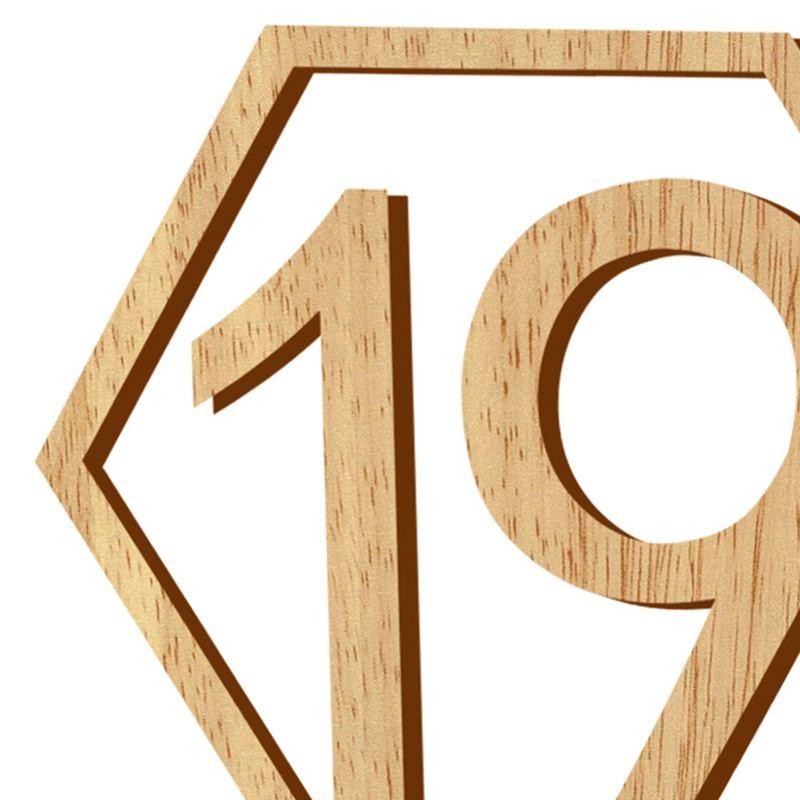 1-20-Numeros-Signo-de-Madera-Numero-de-Mesa-Hexagonal-de-Boda-Numeros-de-Mes-u2O miniatura 6