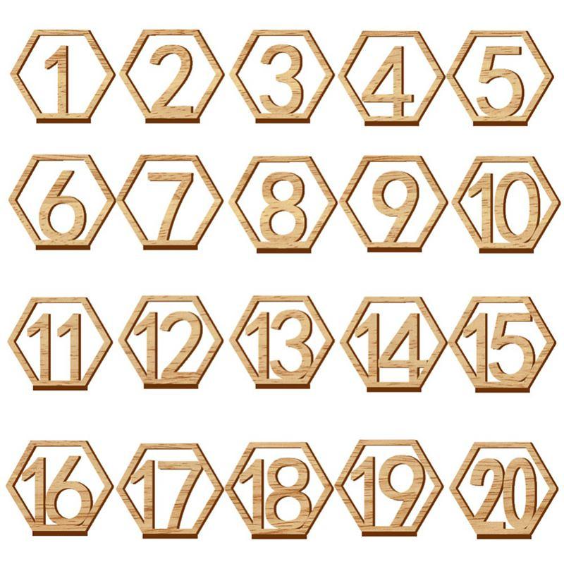 1-20-Numeros-Signo-de-Madera-Numero-de-Mesa-Hexagonal-de-Boda-Numeros-de-Mes-u2O