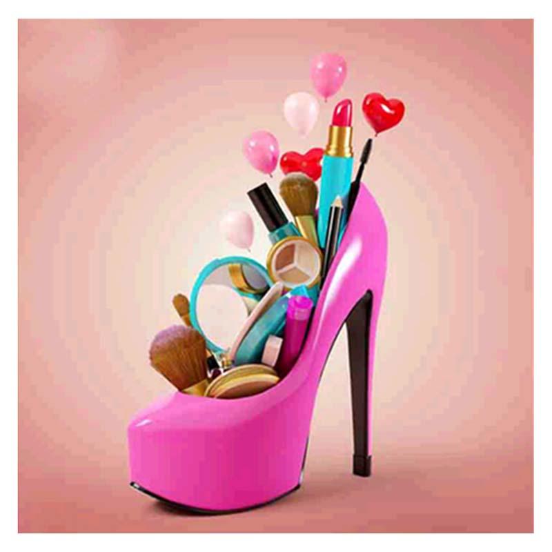 119dd170ff8d4 5D DIY diamante pittura scarpe col tacco alto ricamo disegni punto croce  mosO4P3