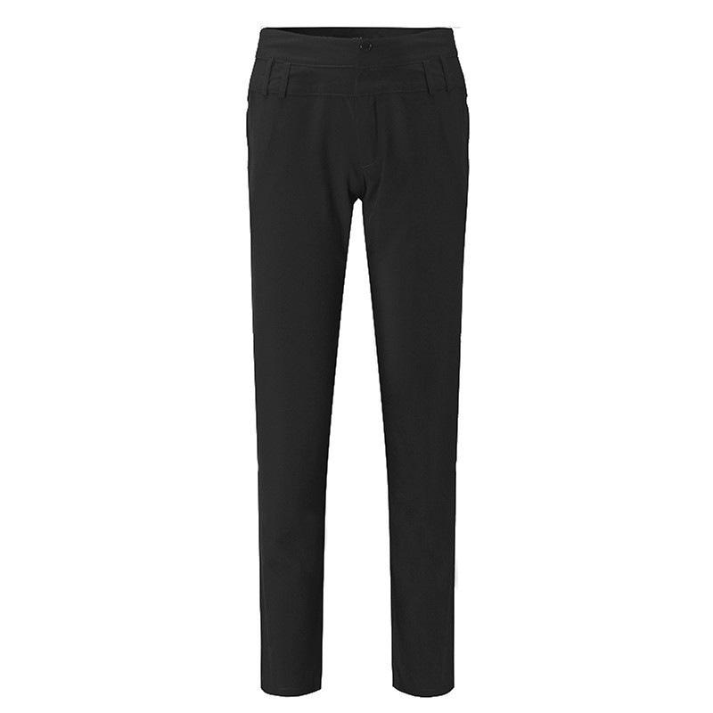 Pantalones-largos-de-senora-de-oficina-de-botones-de-cintura-alta-de-mujer-W2P2 miniatura 4