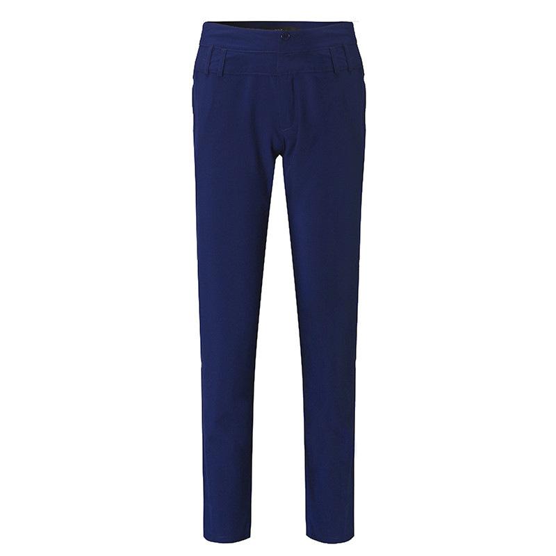 Pantalones-largos-de-senora-de-oficina-de-botones-de-cintura-alta-de-mujer-W2P2 miniatura 11