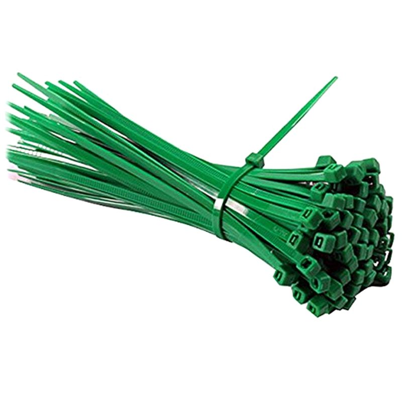 200pcs Size 2.5 x 100mm Nylon Cable Tie in Green Color