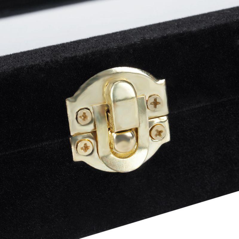 Velvet-Glass-Ring-Earring-Jewelry-Display-Organizer-Box-Tray-Holder-Storage-Case miniature 10