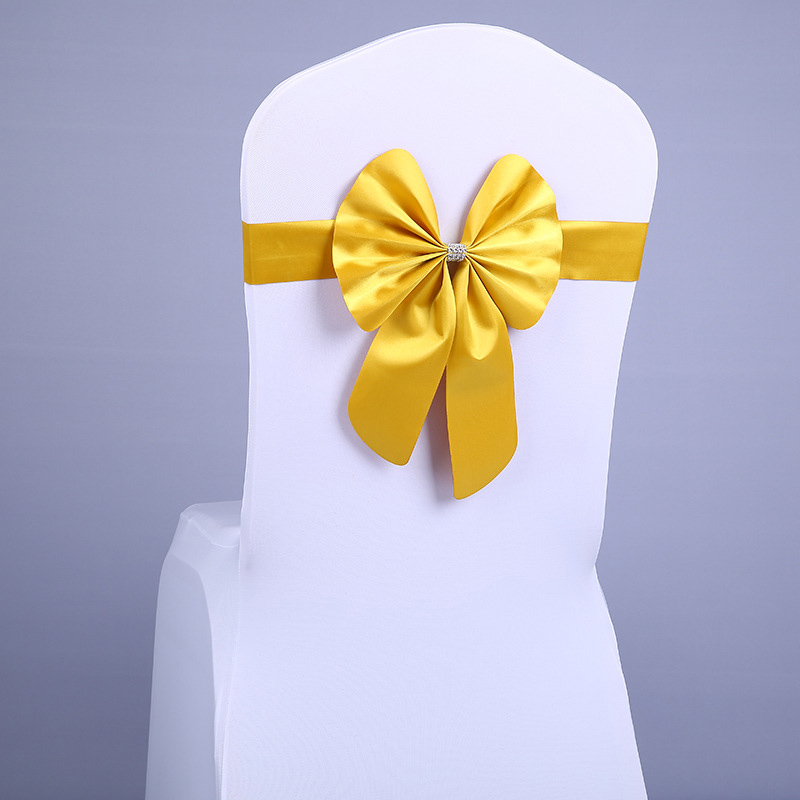thumbnail 3 - Streamer Ribbon Bow Tie for Chair Backrest Wedding Decoration K7N2