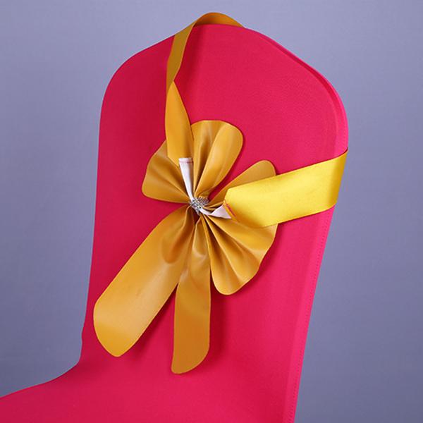 Cinta-diadema-corbata-lazo-para-respaldo-de-silla-Decoracion-de-boda-I2I8 miniatura 4