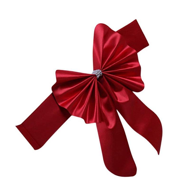 Cinta-diadema-corbata-lazo-para-respaldo-de-silla-Decoracion-de-boda-I2I8 miniatura 10