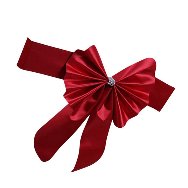 Cinta-diadema-corbata-lazo-para-respaldo-de-silla-Decoracion-de-boda-I2I8 miniatura 11