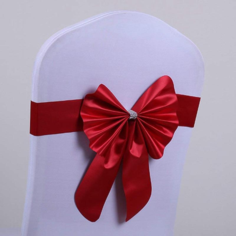 Cinta-diadema-corbata-lazo-para-respaldo-de-silla-Decoracion-de-boda-I2I8 miniatura 12