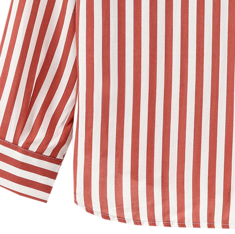 Chaqueta-camisas-a-rayas-de-mujer-de-otono-primavera-Blusa-de-manga-larga-d-C7R7 miniatura 14