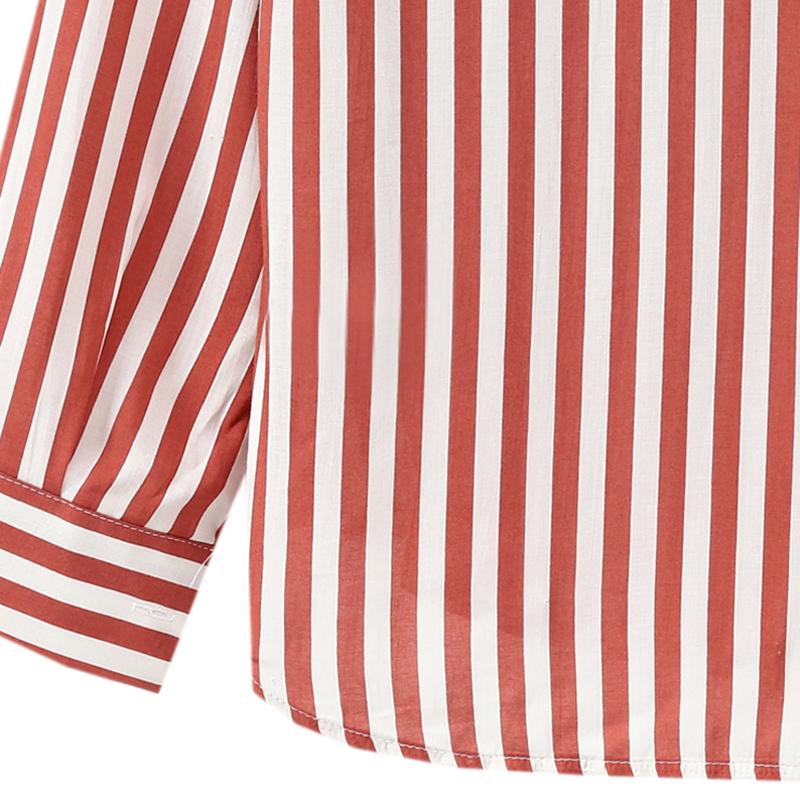 Chaqueta-camisas-a-rayas-de-mujer-de-otono-primavera-Blusa-de-manga-larga-d-C7R7 miniatura 23