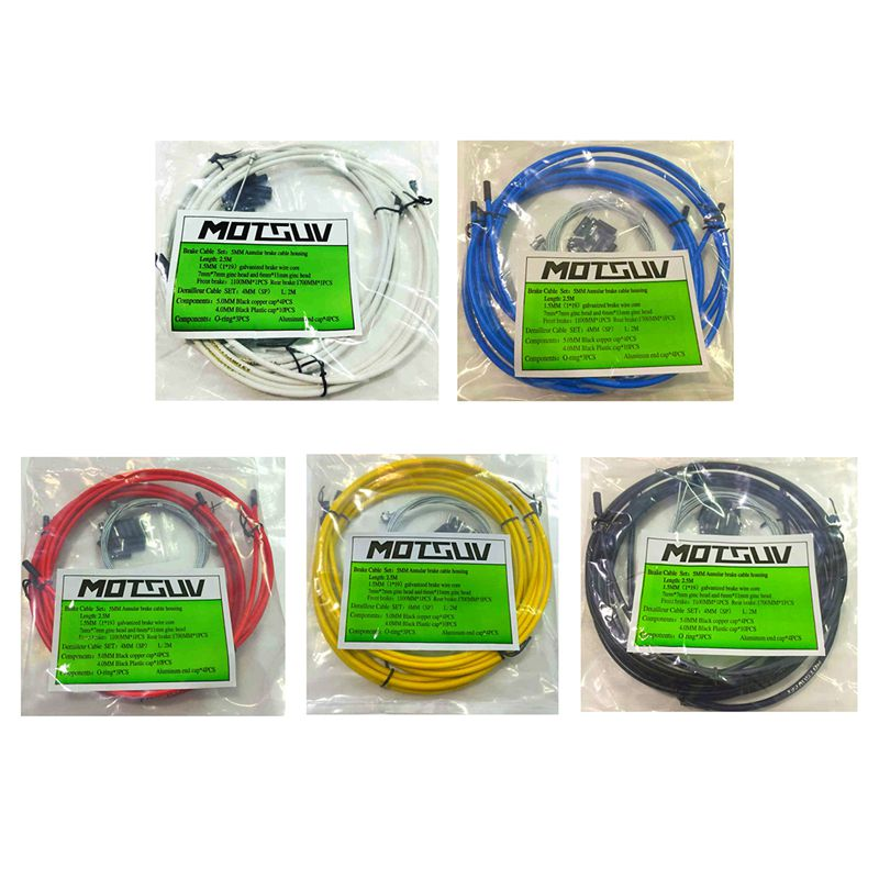 MOTSUV-Jeux-de-cables-de-velo-Kit-de-tuyau-de-cable-de-logement-Frein-a-levi-2T9 miniature 25