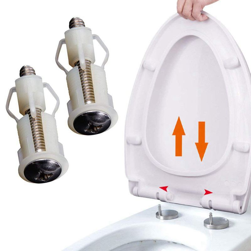 Superb Details About Toilet Seat Hinges Screws Wc Hole Fixing Easy Installation 2 Pack C4K3 Pdpeps Interior Chair Design Pdpepsorg
