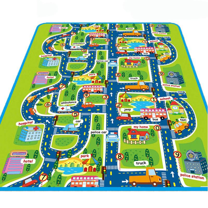 2X-Bebe-Tapis-De-Jeu-Jouets-Pour-Tapis-D-039-enfants-Tapis-De-Jeu-Tapis-De-Devel-T6 miniature 2