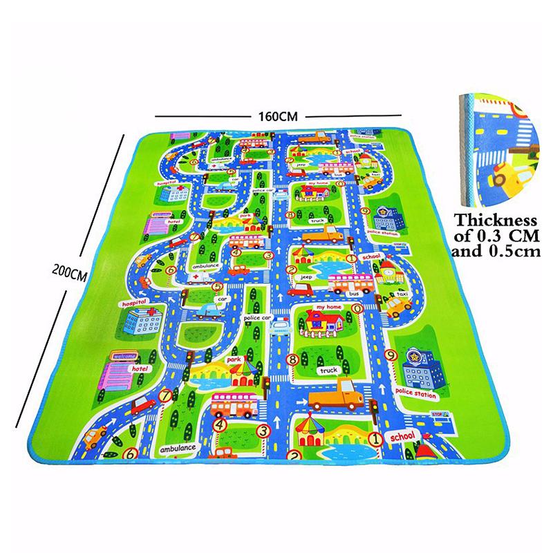 2X-Bebe-Tapis-De-Jeu-Jouets-Pour-Tapis-D-039-enfants-Tapis-De-Jeu-Tapis-De-Devel-T6 miniature 4