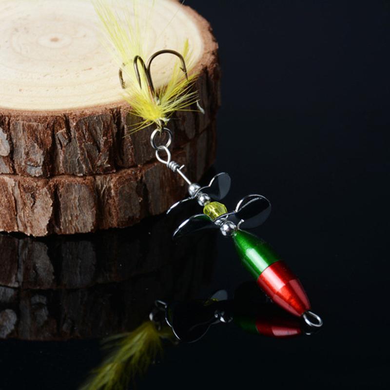 double queue hélice HK 2x Lot longue Spinner Bait Metal pêche leurre w
