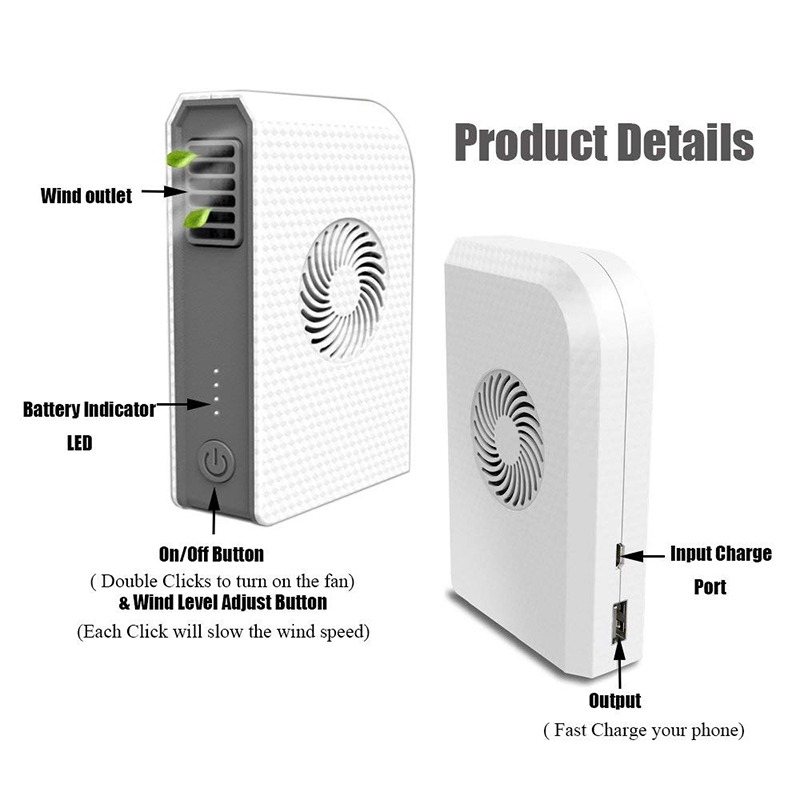 Ventilador-Personal-Pequeno-Con-6000-Mah-De-Potencia-Portatil-De-V6G1 miniatura 6