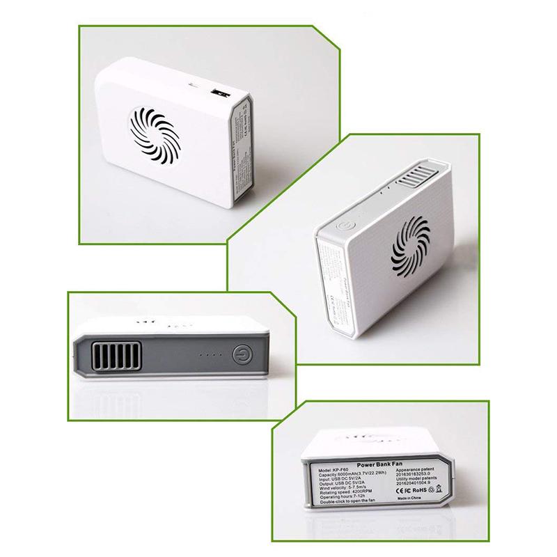 Ventilador-Personal-Pequeno-Con-6000-Mah-De-Potencia-Portatil-De-V6G1 miniatura 7