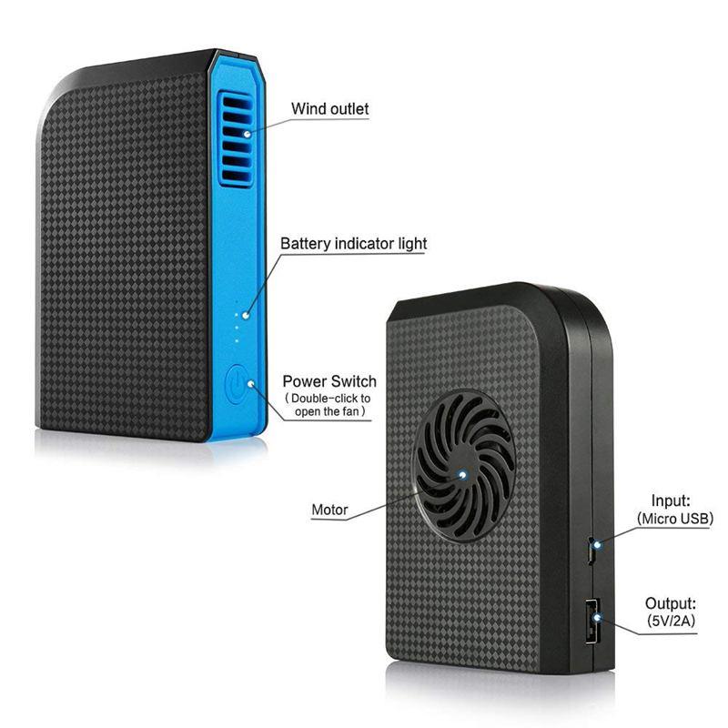 Ventilador-Personal-Pequeno-Con-6000-Mah-De-Potencia-Portatil-De-V6G1 miniatura 15