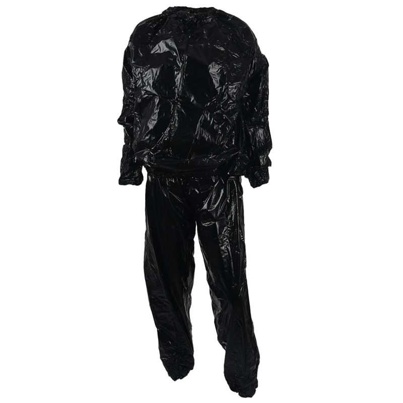 Details About Heavy Duty Fitness Weight Loss Sweat Sauna Suit Exercise Gym Anti Rip Black B5u2