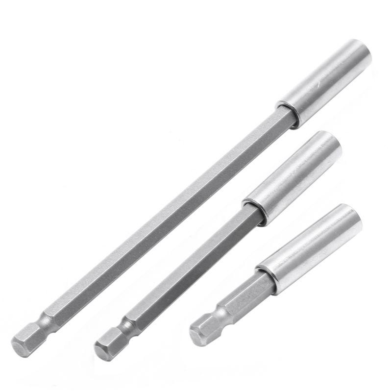 3Pc 1//4 Hex libération rapide magnétique tournevis Extension 60//100//150mm porte-embout