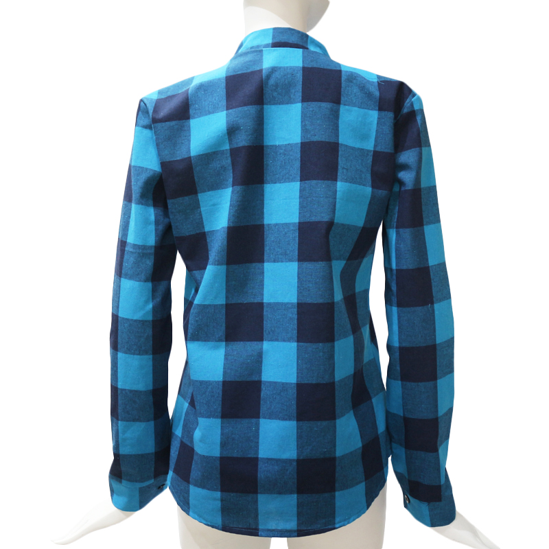 Camisas-de-cuadros-de-mujer-Blusas-de-manga-larga-otono-primavera-Tunica-ca-Y7L8 miniatura 4