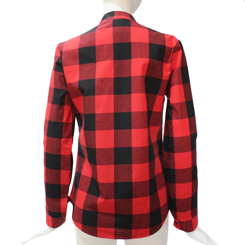 Camisas-de-cuadros-de-mujer-Blusas-de-manga-larga-otono-primavera-Tunica-ca-Y7L8 miniatura 11