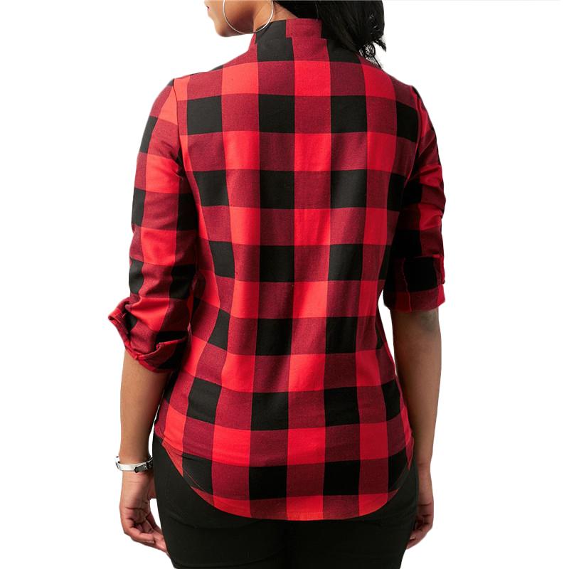 Camisas-de-cuadros-de-mujer-Blusas-de-manga-larga-otono-primavera-Tunica-ca-Y7L8 miniatura 14