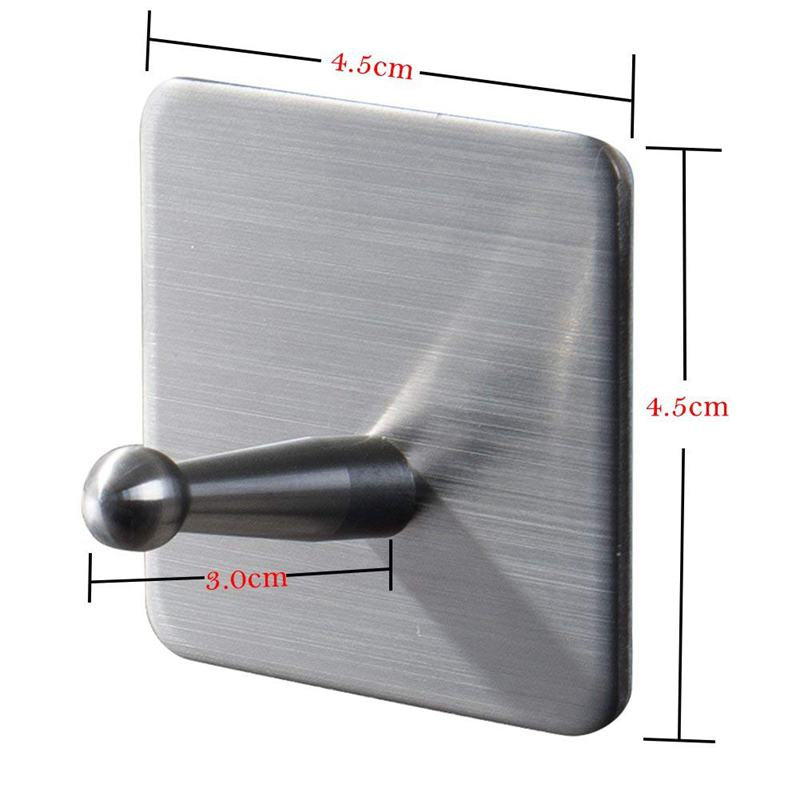 4 stueck klebehaken selbstklebend handtuchhaken klebend. Black Bedroom Furniture Sets. Home Design Ideas