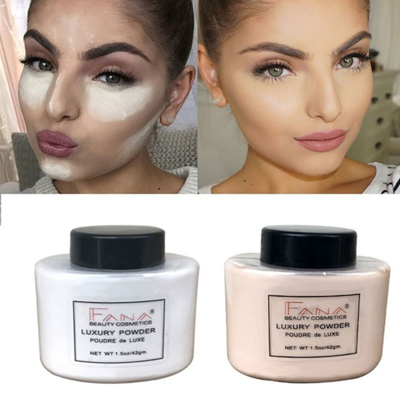 Fana-Poudre-de-luxe-Visage-banane-Poudre-lache-pour-le-maquillage-de-fille-de-Q1 miniature 4