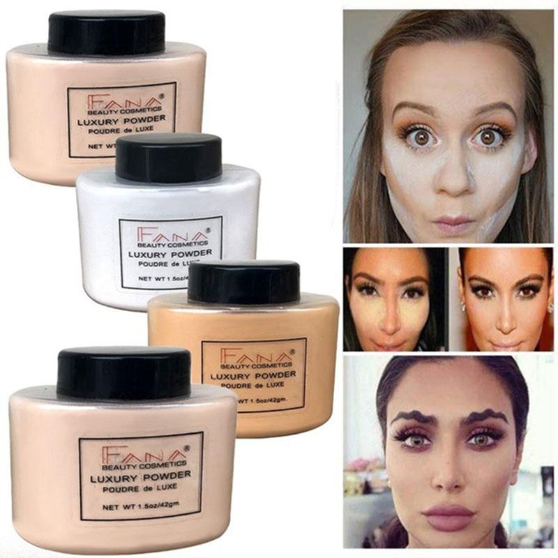 Fana-Poudre-de-luxe-Visage-banane-Poudre-lache-pour-le-maquillage-de-fille-de-Q1 miniature 5