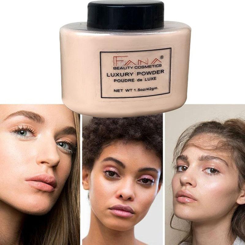 Fana-Poudre-de-luxe-Visage-banane-Poudre-lache-pour-le-maquillage-de-fille-de-Q1 miniature 20