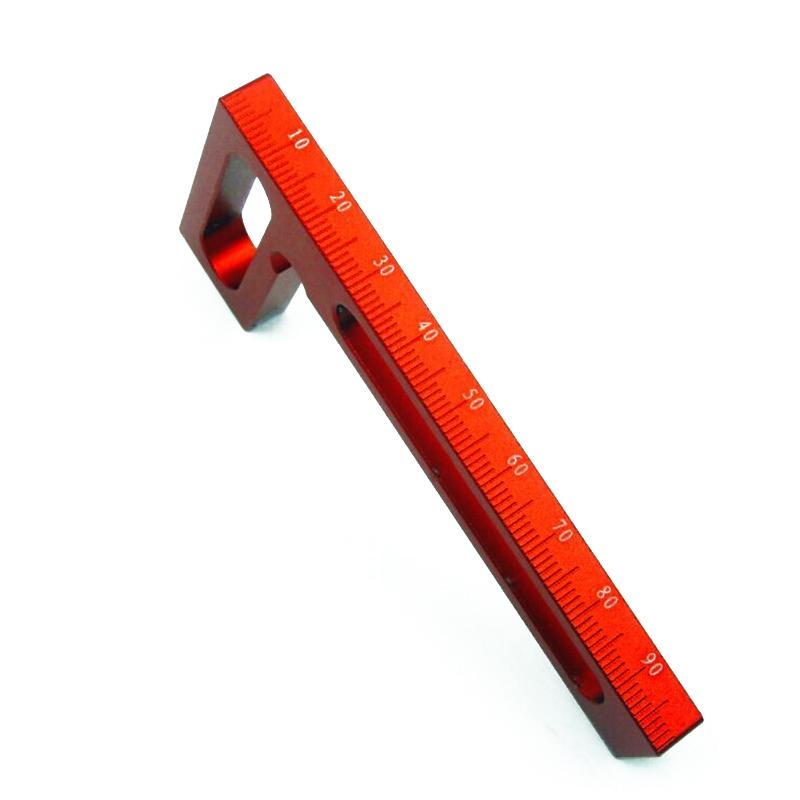 8X(L100mm Aluminium Praezisions-Holzbearbeitungswerkzeuge L-Squre Mini quadra J7 | Glücklicher Startpunkt  | Angenehmes Aussehen  | Fein Verarbeitet