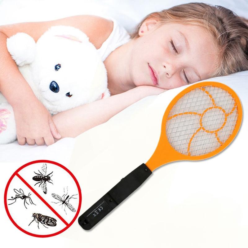 1X Raquette a main a piles Tapette a moustique electrique Tueur de moustiques D7