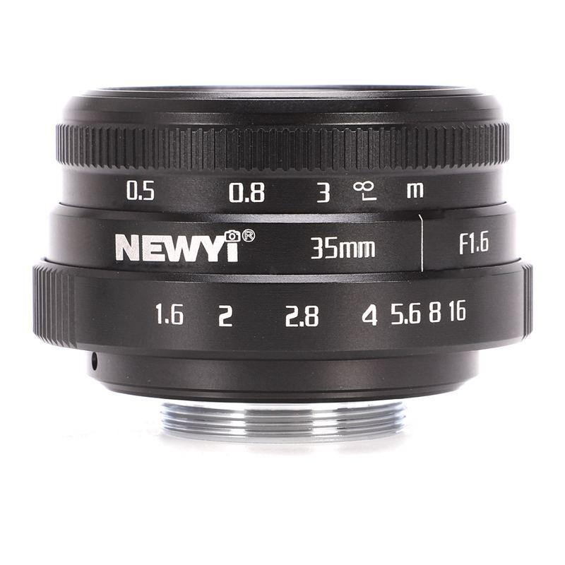 NEWYI-Mini-35mm-F1-6-APS-C-Television-TV-objectif-Objectif-CCTV-Pour-16mm-V1K9 miniature 2