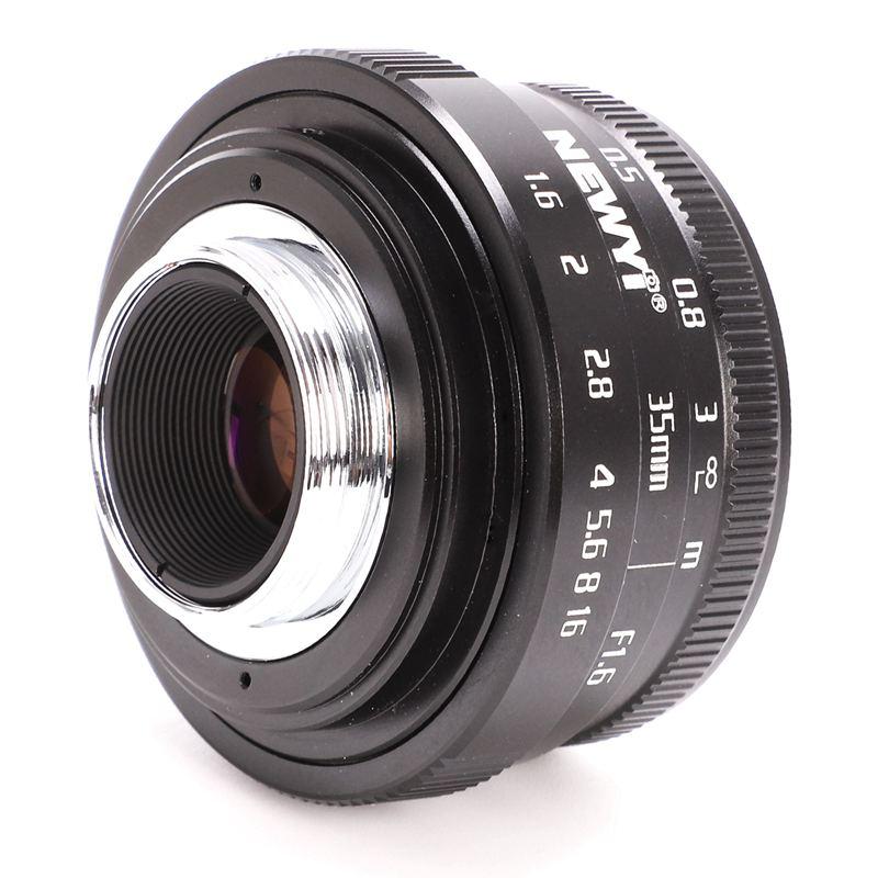 NEWYI-Mini-35mm-F1-6-APS-C-Television-TV-objectif-Objectif-CCTV-Pour-16mm-V1K9