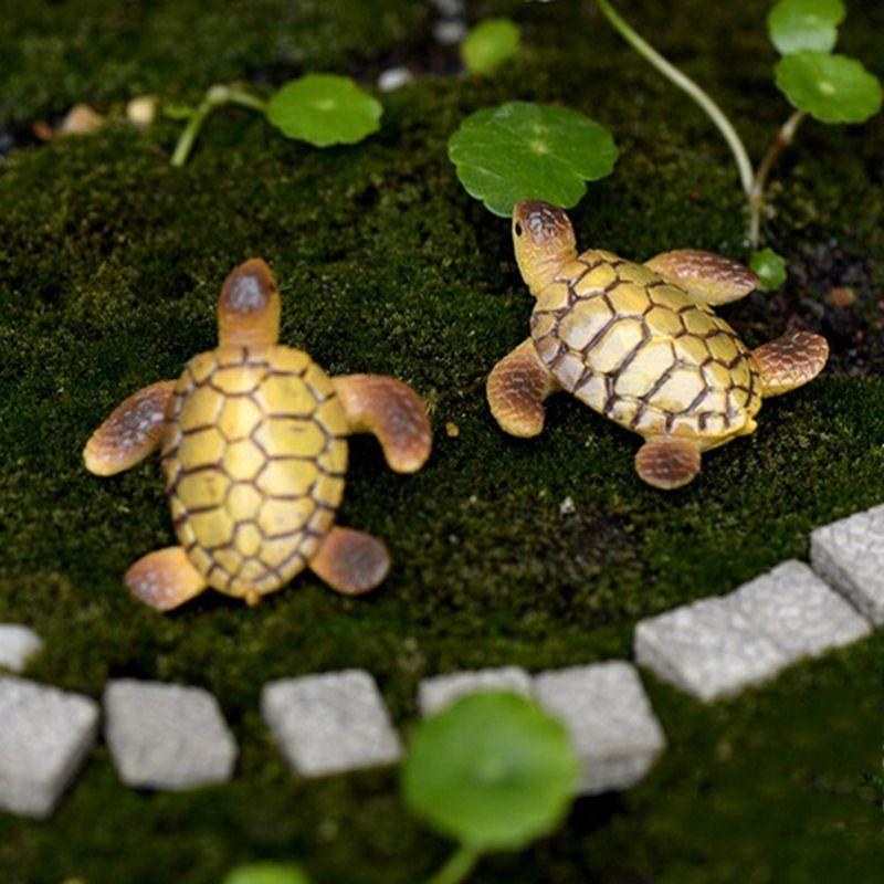 Mini Sea Turtle Model Resin Figurines Fairy Garden Miniatures Fish Tank Ace S2Q4