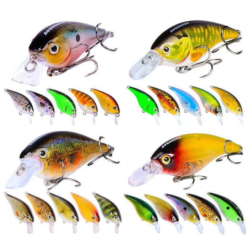 1X(24pcs Lure Set Mixed Crank Bait Artificial Make Bass Wobblers Fishing TaO5E9)
