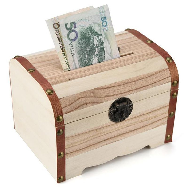 1PC-Wooden-Piggy-Bank-Safe-Money-Box-Savings-With-Lock-Wood-Carving-Handmade-S2P thumbnail 2