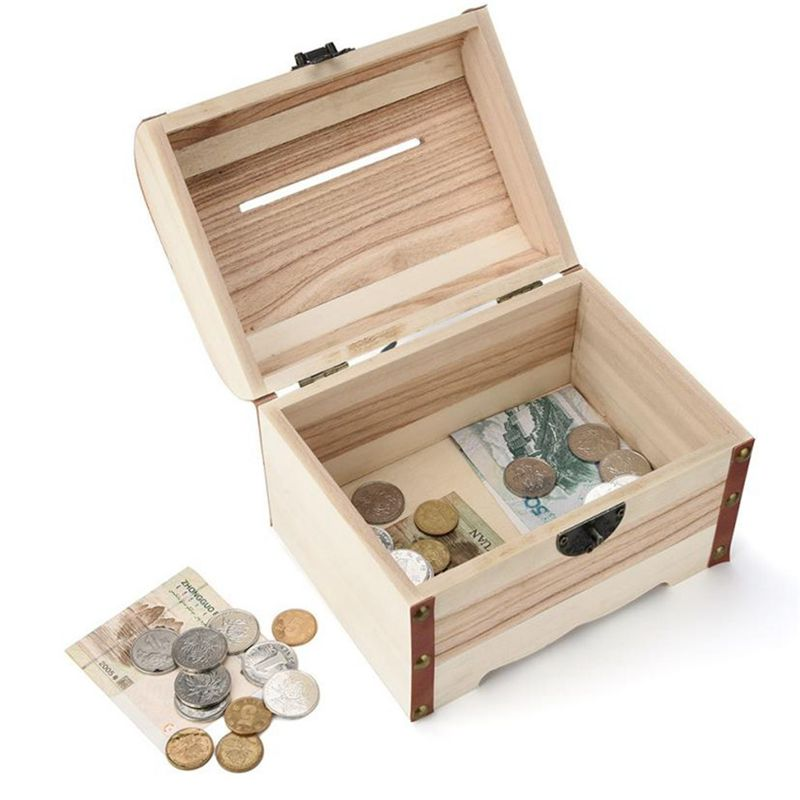 1PC-Wooden-Piggy-Bank-Safe-Money-Box-Savings-With-Lock-Wood-Carving-Handmade-S2P thumbnail 4