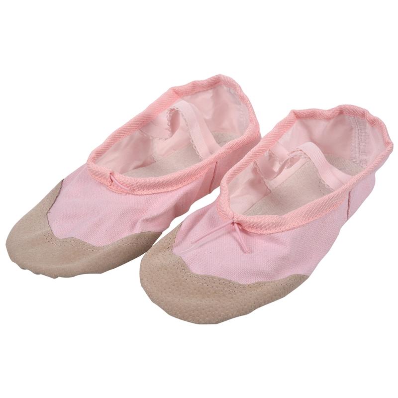 1-Pair-of-Leather-Canvas-Adult-Ballet-Dance-Shoes-Practice-Ballet-Dance-s-C7U8 thumbnail 10