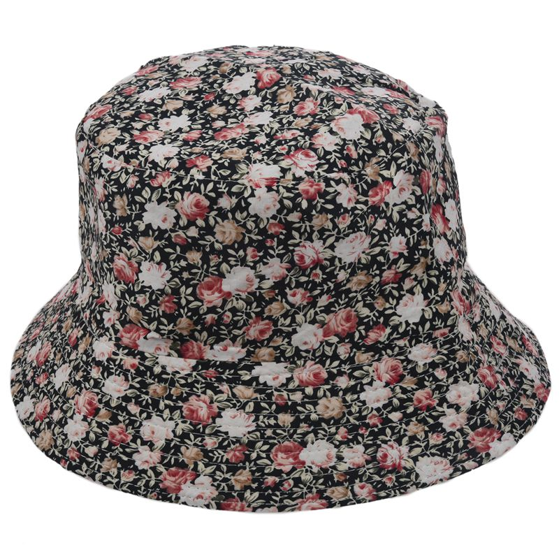 7960f6e733f Women Men Bucket Hat Boonie Hat Hunting Fishing Outdoor Cap Floral Summer S  H4G8