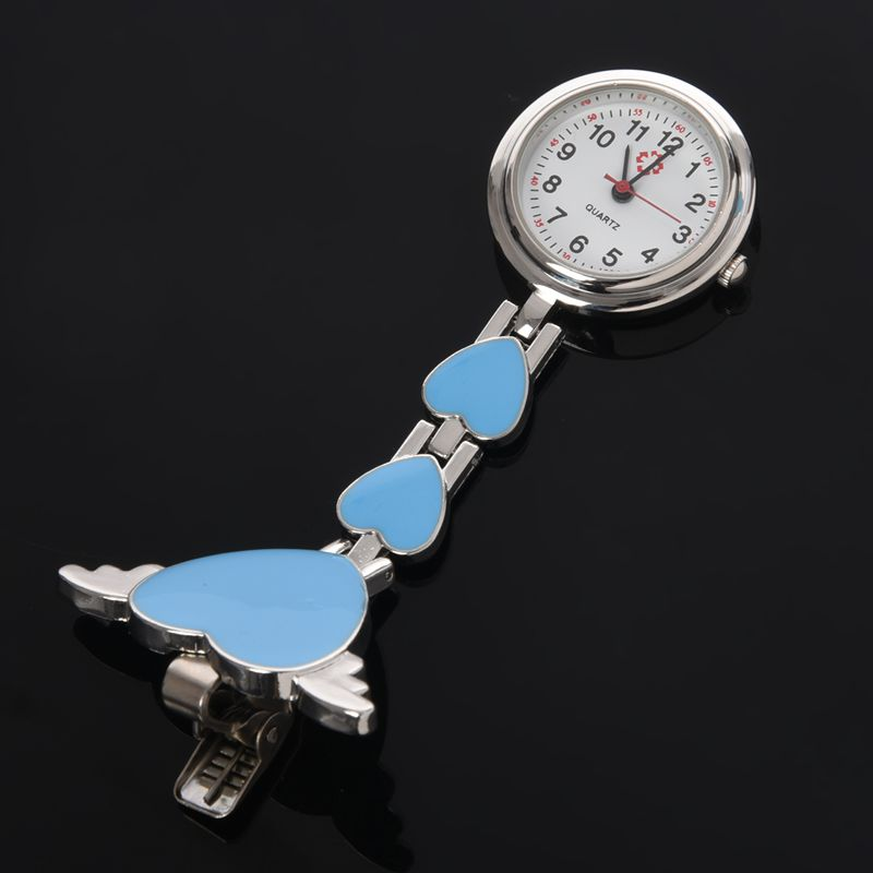 Womens-Girls-Heart-Angle-Wing-Nurse-Fob-Clip-On-Brooch-Hanging-Pocket-Watch-R9Y6 thumbnail 5