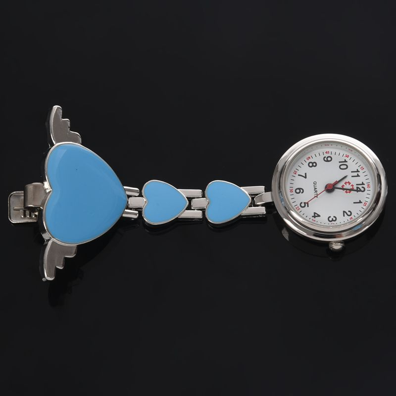Womens-Girls-Heart-Angle-Wing-Nurse-Fob-Clip-On-Brooch-Hanging-Pocket-Watch-R9Y6 thumbnail 6