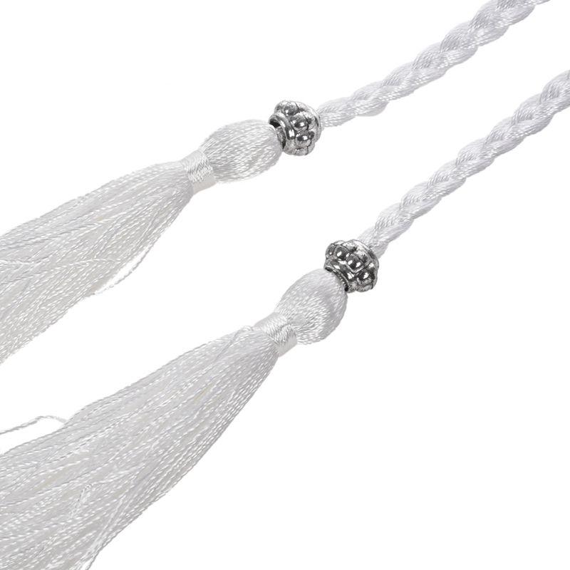 Woven-Pompon-Ceinture-Noeud-Decore-Taille-Chaine-Taille-Corde-P5N3 miniature 6