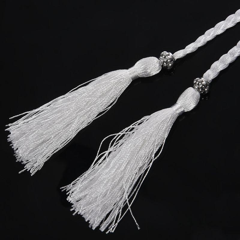 Woven-Pompon-Ceinture-Noeud-Decore-Taille-Chaine-Taille-Corde-P5N3 miniature 8