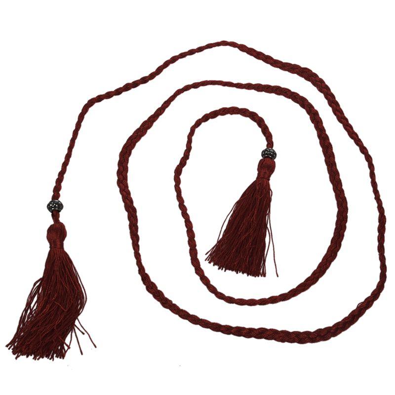Woven-Pompon-Ceinture-Noeud-Decore-Taille-Chaine-Taille-Corde-P5N3 miniature 13