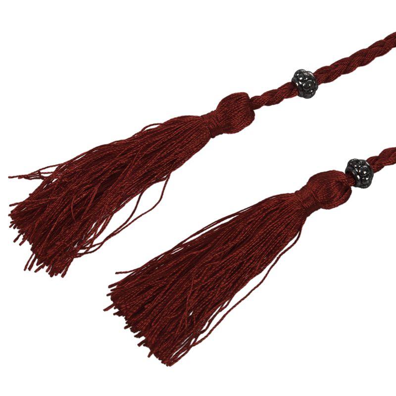 Woven-Pompon-Ceinture-Noeud-Decore-Taille-Chaine-Taille-Corde-P5N3 miniature 16