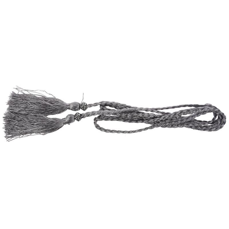 Woven-Pompon-Ceinture-Noeud-Decore-Taille-Chaine-Taille-Corde-P5N3 miniature 21