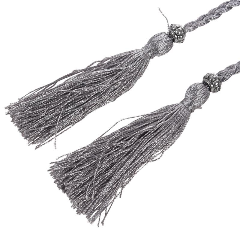 Woven-Pompon-Ceinture-Noeud-Decore-Taille-Chaine-Taille-Corde-P5N3 miniature 24