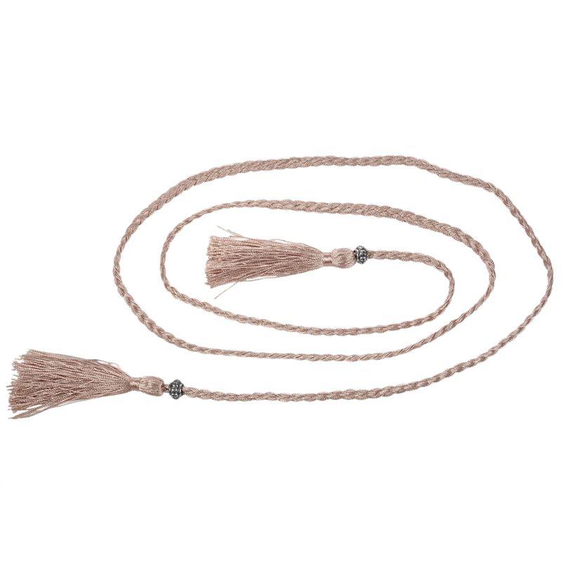 Woven-Pompon-Ceinture-Noeud-Decore-Taille-Chaine-Taille-Corde-P5N3 miniature 36